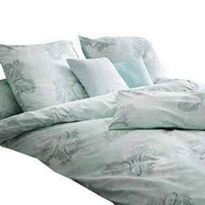 Hübsche Bettwäsche aus Satin - grau 135x200 von Estella