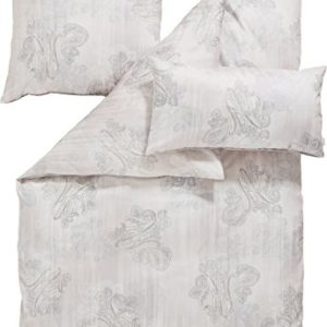 Kuschelige Bettwäsche aus Satin - grau 135x200 von Estella