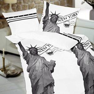 Traumhafte Bettwäsche aus Satin - grau 135x200 von Kaeppel