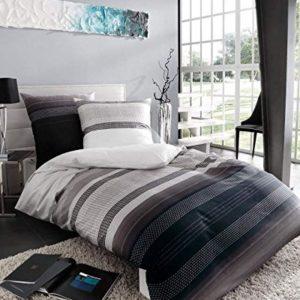Schöne Bettwäsche aus Satin - grau 135x200 von Kaeppel