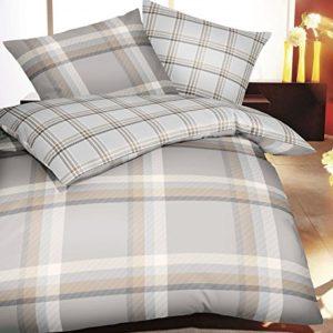 Hübsche Bettwäsche aus Satin - grau 135x200 von Kaeppel