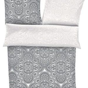 Kuschelige Bettwäsche aus Satin - grau 135x200 von s.Oliver