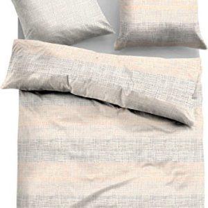 Kuschelige Bettwäsche aus Satin - grau 135x200 von Tom Tailo
