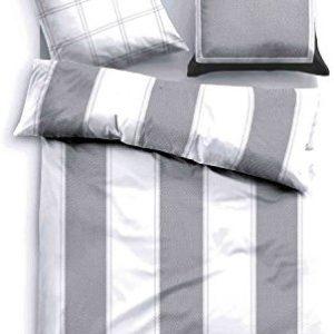 Schöne Bettwäsche aus Satin - grau 135x200 von TOM TAILOR