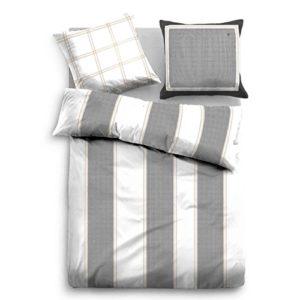 Traumhafte Bettwäsche aus Satin - grau 135x200 von TOM TAILOR