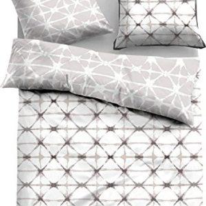 Kuschelige Bettwäsche aus Satin - grau 135x200 von TOM TAILOR
