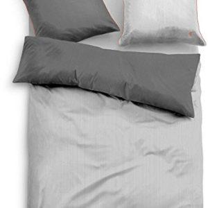 Hübsche Bettwäsche aus Satin - grau 135x200 von TOM TAILOR