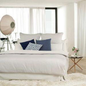 Traumhafte Bettwäsche aus Satin - grau 155x200 von TOM TAILOR
