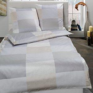 Kuschelige Bettwäsche aus Satin - grau 155x220 von Estella