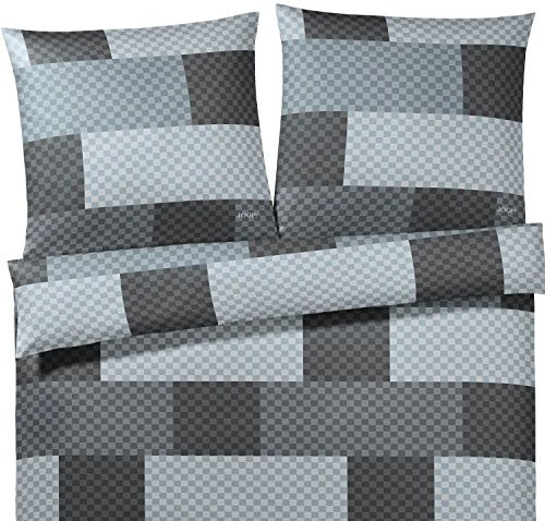 Hübsche Bettwäsche aus Satin - grau 155x220 von Joop