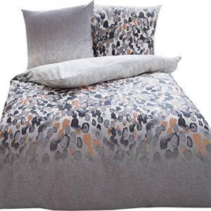 Hübsche Bettwäsche aus Satin - grau 155x220 von Kaeppel