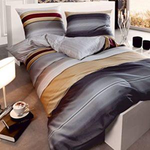 Traumhafte Bettwäsche aus Satin - grau 155x220 von Kaeppel