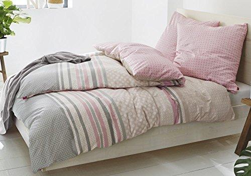 Traumhafte Bettwäsche aus Satin - grau 155x220 von s.Oliver