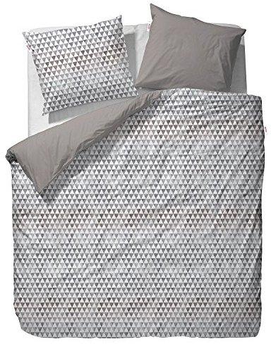 Kuschelige Bettwäsche aus Satin - grau von ESPRIT