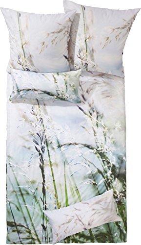 Schöne Bettwäsche aus Satin - grün 135x200 von Erwin Müller