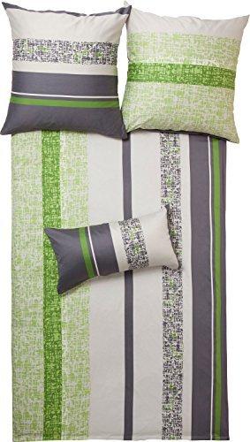 sch ne bettw sche aus satin gr n 135x200 von erwin m ller bettw sche. Black Bedroom Furniture Sets. Home Design Ideas