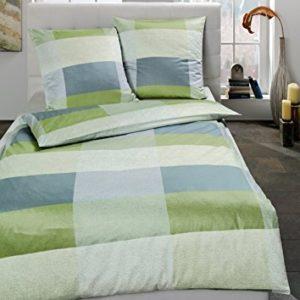 Traumhafte Bettwäsche aus Satin - grün 135x200 von Estella
