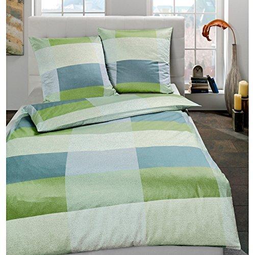 traumhafte bettw sche aus satin gr n 135x200 von estella. Black Bedroom Furniture Sets. Home Design Ideas