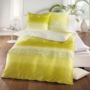 Traumhafte Bettwäsche aus Satin - grün 135x200 von Kaeppel