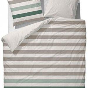 Hübsche Bettwäsche aus Satin - grün 135x200 von Marc O'Polo HOME