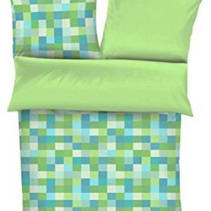 Schöne Bettwäsche aus Satin - grün 135x200 von s.Oliver