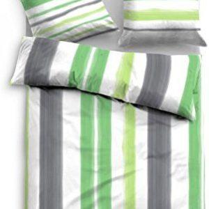 Kuschelige Bettwäsche aus Satin - grün 135x200 von TOM TAILOR