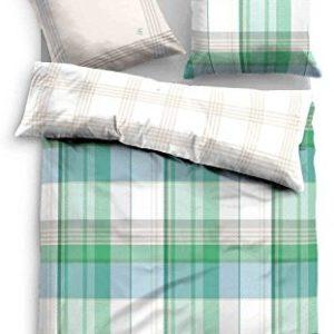 Traumhafte Bettwäsche aus Satin - grün 155x200 von TOM TAILOR