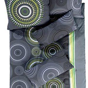 Hübsche Bettwäsche aus Satin - grün 155x220 von Erwin Müller