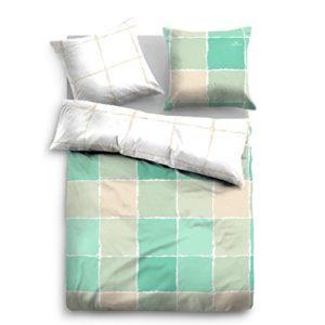 Traumhafte Bettwäsche aus Satin - grün 155x220 von TOM TAILOR