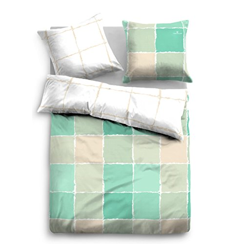traumhafte bettw sche aus satin gr n 155x220 von tom. Black Bedroom Furniture Sets. Home Design Ideas