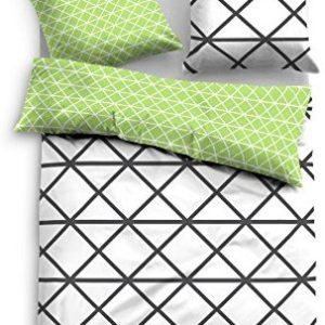Schöne Bettwäsche aus Satin - grün 155x220 von TOM TAILOR
