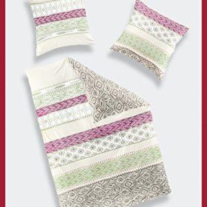 Kuschelige Bettwäsche aus Satin - rosa 135x200 von Bierbaum