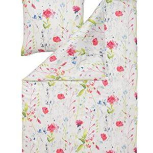 Kuschelige Bettwäsche aus Satin - rosa 135x200 von Estella
