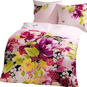 Schöne Bettwäsche aus Satin - rosa 135x200 von Kaeppel