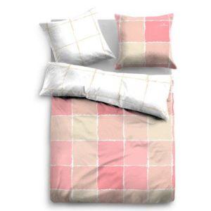 Hübsche Bettwäsche aus Satin - rosa 135x200 von TOM TAILOR