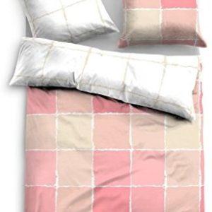Kuschelige Bettwäsche aus Satin - rosa 155x220 von TOM TAILOR