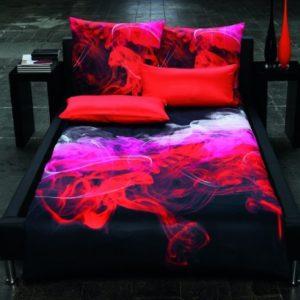 Traumhafte Bettwäsche aus Satin - rot 135x200 von Estella