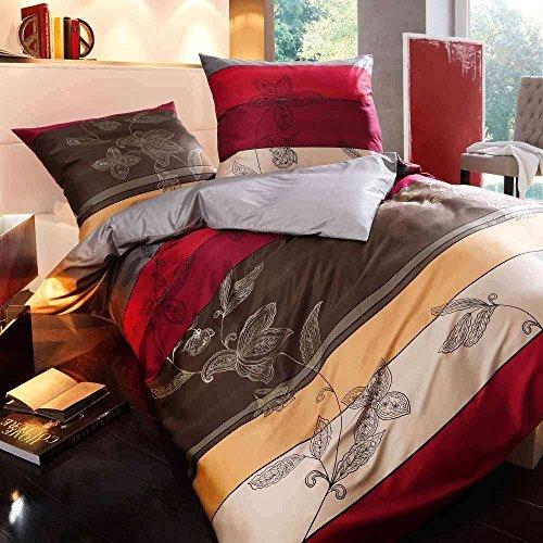 traumhafte bettw sche aus satin rot 135x200 von kaeppel. Black Bedroom Furniture Sets. Home Design Ideas