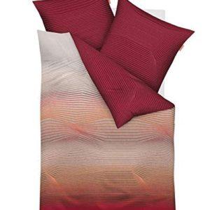 Schöne Bettwäsche aus Satin - rot 135x200 von Kaeppel