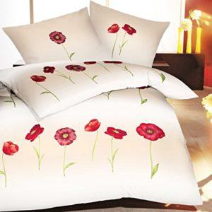 Traumhafte Bettwäsche aus Satin - rot 135x200 von Kaeppel