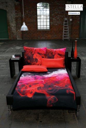 Traumhafte Bettwäsche aus Satin - rot 155x220 von Estella