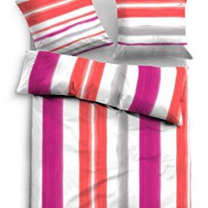 Hübsche Bettwäsche aus Satin - rot 155x220 von TOM TAILOR