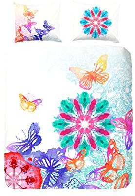 Kuschelige Bettwäsche aus Satin - Schmetterlinge von HIP