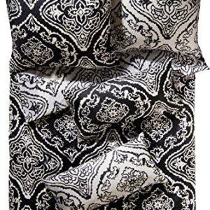 Hübsche Bettwäsche aus Satin - schwarz 135x200 von Erwin Müller