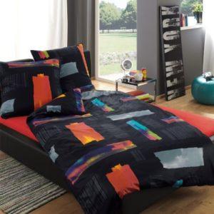 Traumhafte Bettwäsche aus Satin - schwarz 135x200 von Estella