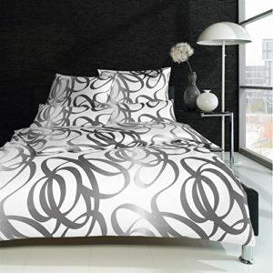 Kuschelige Bettwäsche aus Satin - schwarz 135x200 von Estella