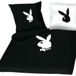 Schöne Bettwäsche aus Satin - schwarz 135x200 von Playboy