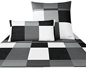 Schöne Bettwäsche aus Satin - schwarz 140x200 von Joop!