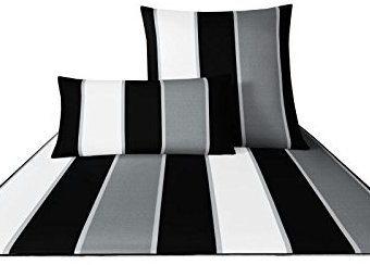 Kuschelige Bettwäsche aus Satin - schwarz 140x200 von Joop!