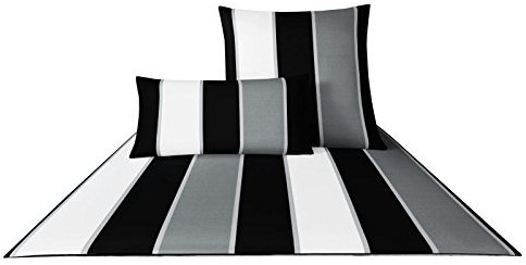 kuschelige bettw sche aus satin schwarz 140x200 von joop. Black Bedroom Furniture Sets. Home Design Ideas